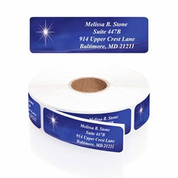 Miraculous News Designer Rolled Address Labels with Elegant Plastic Dispenser