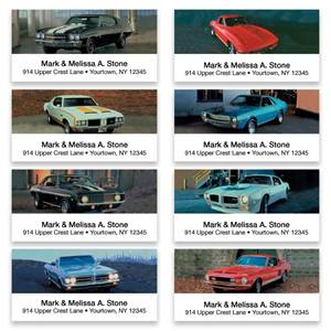 Dream Muscle Cars Assorted Sheeted Address Labels