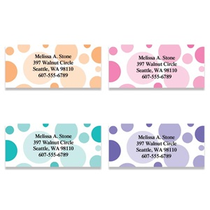 Bright Graphic Dots Assorted Sheeted Address Labels