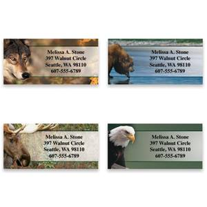 Nature's Wildlife Assorted Sheeted Address Labels
