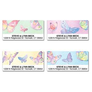 Vivid Watercolor Wings Assorted Sheeted Address Labels