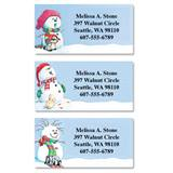 Snowman Delights Assorted Sheeted Address Labels