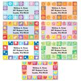 Parade of Seasons Squares Assorted Sheeted Address Labels