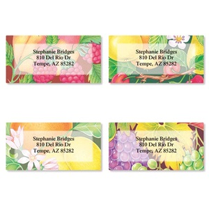 Fancy Fruits Assorted Sheeted Address Labels