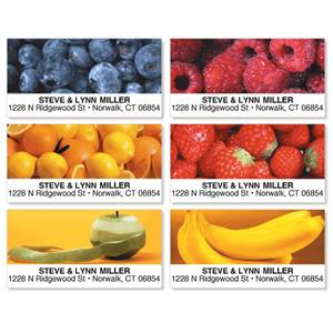 Fresh Fruity Medley Assorted Sheeted Address Labels