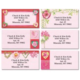 Hearts and Flowers Assorted Sheeted Address Labels