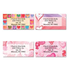 Romancing Hearts Assorted Sheeted Address Labels