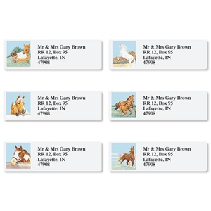 Equine Assorted Sheeted Address Labels