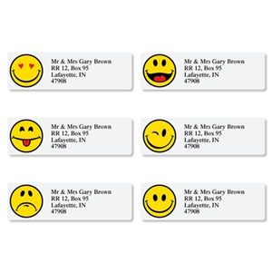 Emotive Faces Assorted Sheeted Address Labels