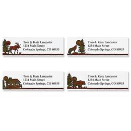 Brown Address Labels | Artistic Direct