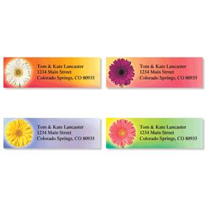 Precious Petals Colorful Assorted Sheeted Address Labels