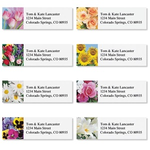 Beautiful Bouquets Assorted Sheeted Address Labels