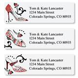 Sophisticated Designer Shoes Assorted Sheeted Address Labels