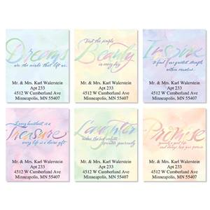 Inspirational Watercolor Thoughts Assorted Sheeted Address Labels