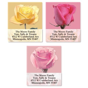 Rose Blooms Assorted Sheeted Address Labels