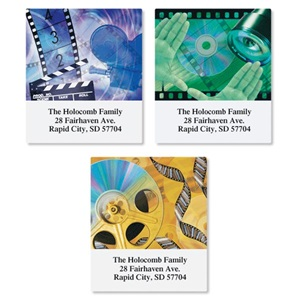 Movie Buffs Assorted Sheeted Address Labels
