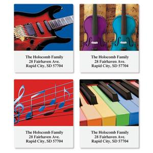 Musical Assorted Sheeted Address Labels