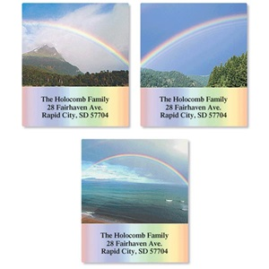 rainbow landscapes assorted sheeted address labels artistic labels