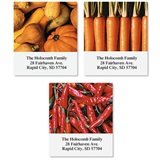Vegetable Variety Assorted Sheeted Address Labels