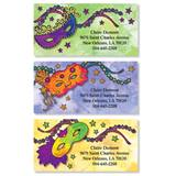 Madri Gras Masks Assorted Sheeted Address Labels