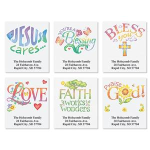 Faithful Expressions Assorted Sheeted Address Labels
