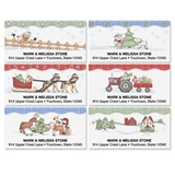 Country Holiday Farm Assorted Sheeted Address Labels