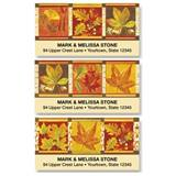 Fall Leaves Medley Assorted Sheeted Address Labels