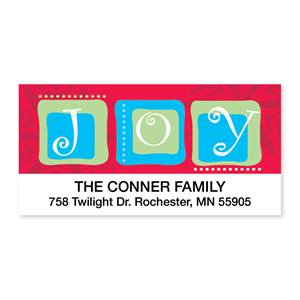 Joyful Squares Sheeted Address Labels