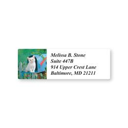 Kitty in a Mailbox Sheeted Address Labels