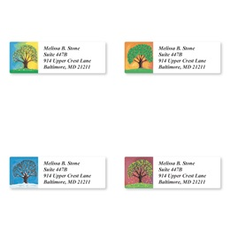 Tree in Four Seasons Assorted Sheeted Address Labels