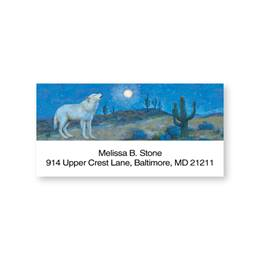 Wolf Howling at the Moon Sheeted Address Labels