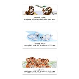 Baby Animals Assorted Sheeted Address Labels with