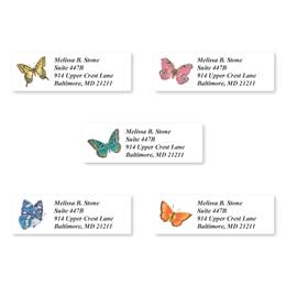 Bright Butterflies Assorted Sheeted Address Labels