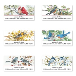 Birds on Branches Assorted Sheeted Address Labels