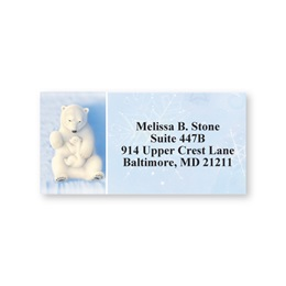Polar Bears in Winter Sheeted Address Labels