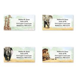 African Safari Assorted Sheeted Address Labels