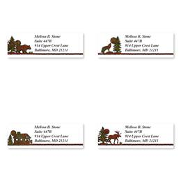 Country Lodge Landscape Assorted Sheeted Address Labels