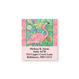 Pink Flamingo Tropical Sheeted Address Labels