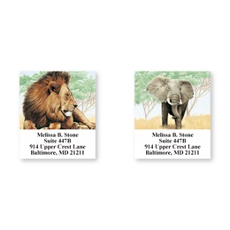 African Safari Animals Assorted Sheeted Address Labels