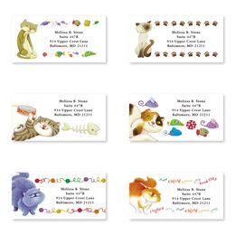 Cat's Meow Assorted Sheeted Address Labels