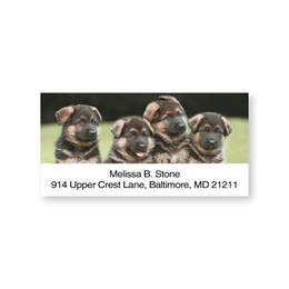 Cute German Shepherd Pups Sheeted Address Labels