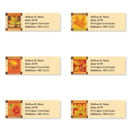 Fall Leaves Assorted Sheeted Address Labels