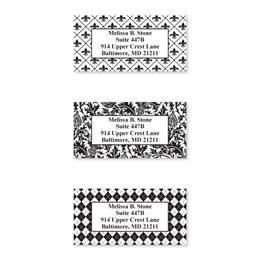 Black & White Assorted Designs Sheeted Address Labels
