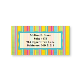 Bright Wavy Stripes Sheeted Address Labels