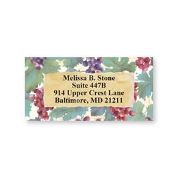 Grapes & Vine Brushed Art Sheeted Address Labels