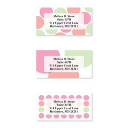 Just Dots Pastel Colored Assorted Sheeted Address Labels