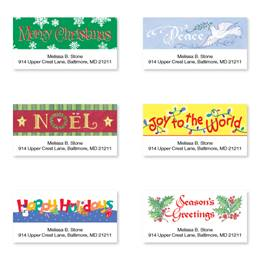 Joyous Holiday Greetings Assorted Sheeted Address Labels