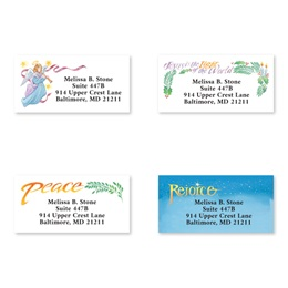 Religious Holiday Greetings Assorted Sheeted Address Labels