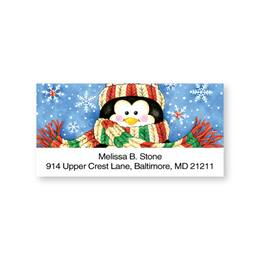 Chilly Chap Penguin Sheeted Address Labels