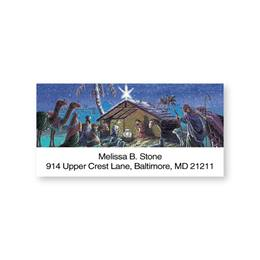 Nativity Scene Sheeted Address Labels